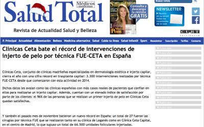 Clínicas Ceta bate el récord de intervenciones de injerto de pelo por técnica FUE-CETA en España